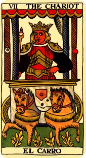 the chariot tarot card marseilles deck