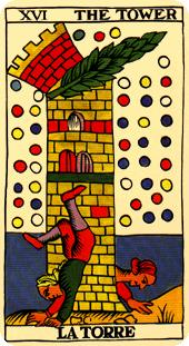 the tower tarot card marseilles deck